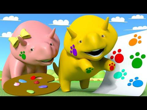 Download Youtube: NAUKA KOLORÓW: Malowanie Łapkami! 👶 Bajki Edukacyjne dla Dzieci