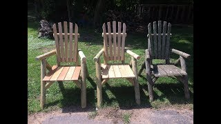 How To Make Your Own. LOG CAMPFIRE CHAIR. Step By Step.