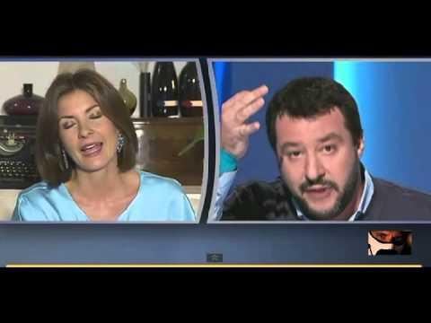 Matteo Salvini demolisce passo passo Alessandra Moretti 03/11/2014