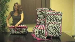 Rockland F105 Fashion Expandable 4-Piece Luggage Set Thumbnail
