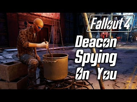 Fallout 4 - Deacon Spying On You (All Locations)
