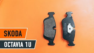 front and rear Brake Pads fitting SKODA OCTAVIA (1U2): free video