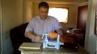 Spiralizing Giant Raw Yam One Sweet Potato; Making Raw Vegetable Rice