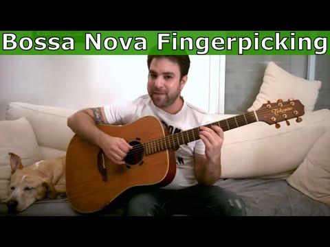 3 Bossa Nova Rhythm Patterns - Fingerstyle Guitar Lesson Tutorial w/ TAB