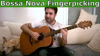 3 Bossa Nova Rhythm Patterns - Fingerstyle Guitar Lesson Tutorial w/ TAB
