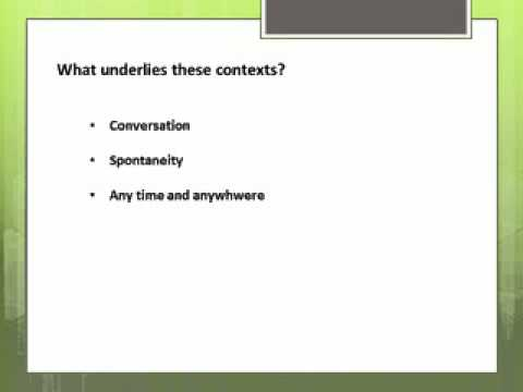 Intro to informal education