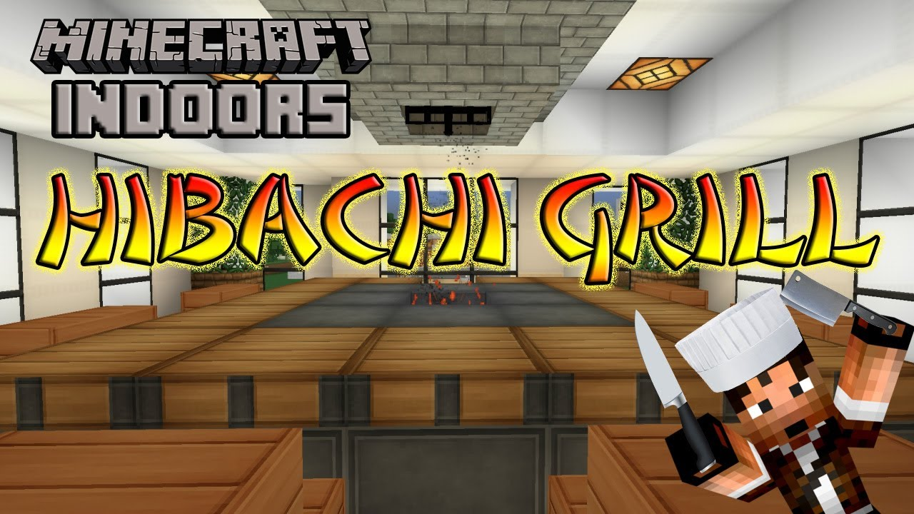 How To Build A Hibachi Grill Minecraft Indoors Kitchen Tutorial Youtube
