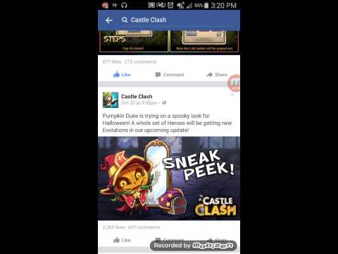 Castle Clash: New Updates And Their Facebook Page