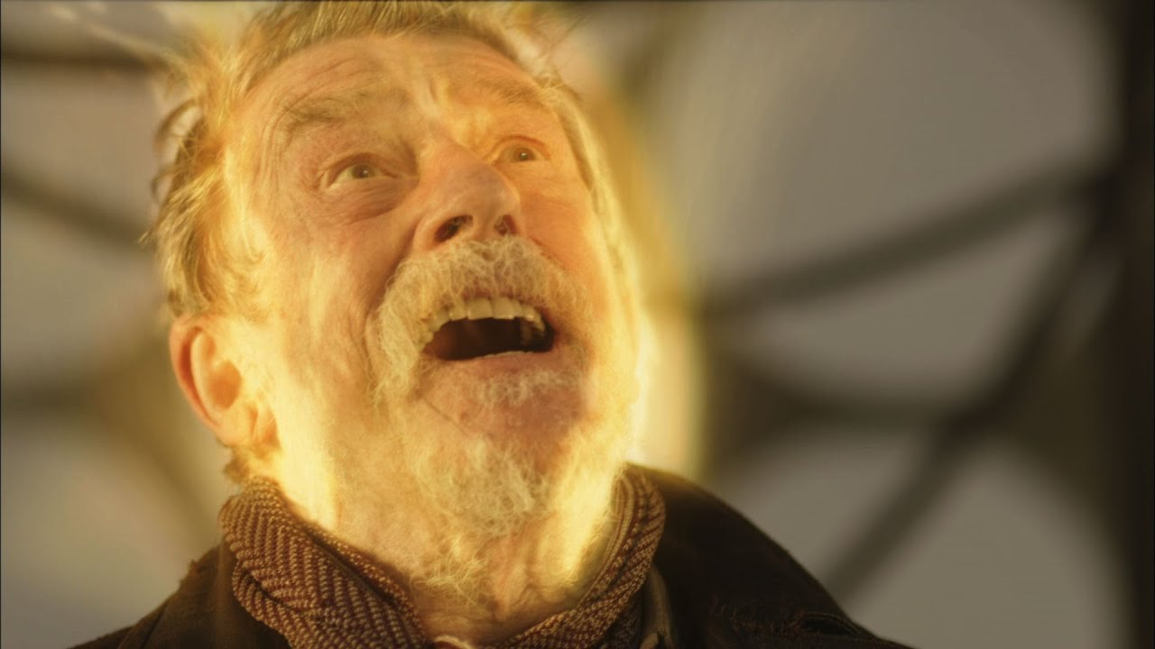 the war doctor regenerates john hurt to christopher eccleston the day of the doctor bbc youtube