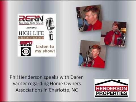 Phil Henderson on High Life Credit Radio - Charlotte HOA Information