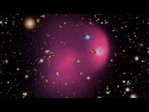 Simulation of a collision between two galaxy clusters without dark matter