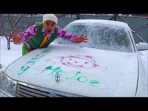 Funny Mr. Joe on Nissan Cedric VS Purple Fat Man painted Car in Car Service for Kids