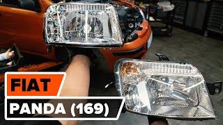 Kaukovalo polttimo asennus itse opetusvideo FIAT PANDA