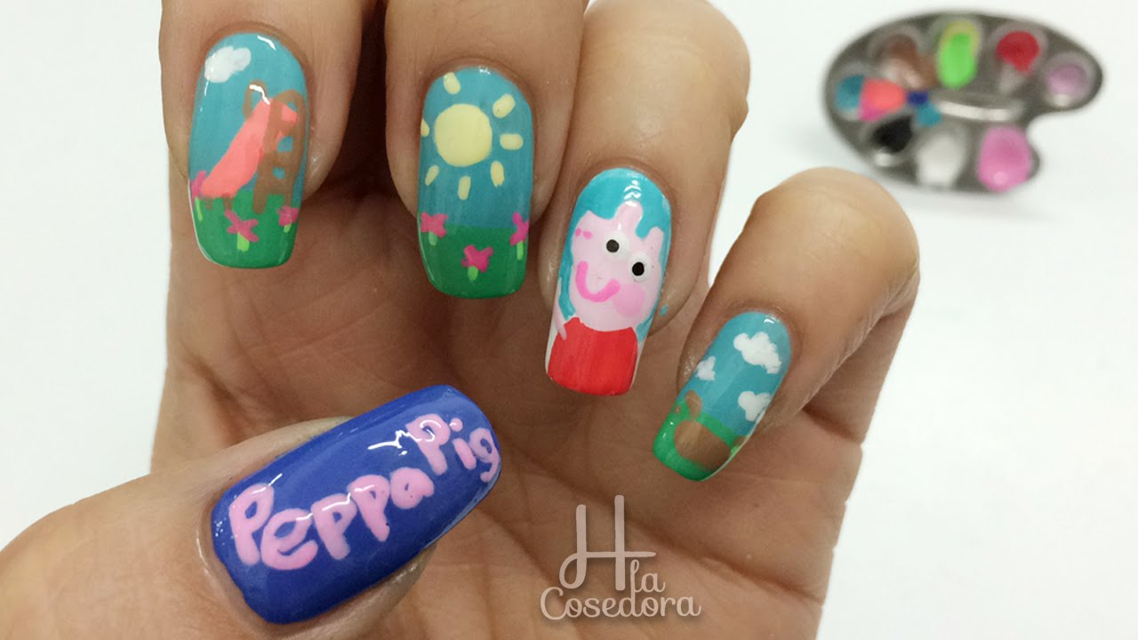 Decoracion de u as peppa pig nail art youtube - Decoracion para las unas ...