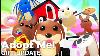 ROBLOX ADOPT ME GIFT UPDATE UNLOCKING ALL NEW ITEMS (DOGMOBILE)