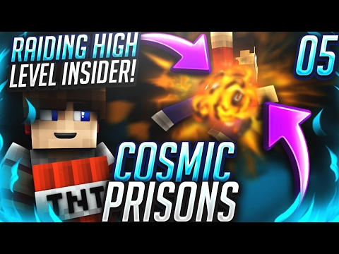 OP CELL RAID ON AN INSIDER! | Minecraft COSMIC PRISONS #5 (CosmicPvP Sovereign Planet )