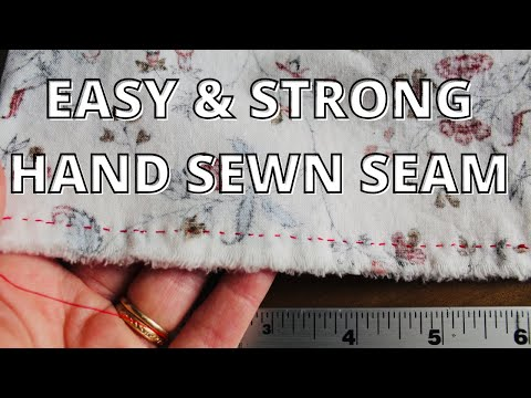 Hand Sewing Tutorial (LEFT HANDED): Easy And Strong Seam