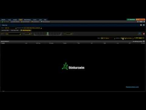 Realtime Data From ThinkorSwim into Excel