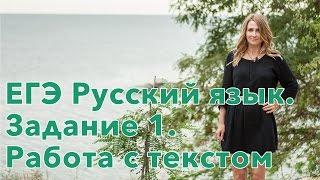 ЕГЭ Русский язык. Задание 1