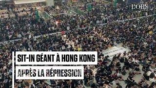 L'aéroport de Hong Kong bloqué par un sit-in géant après de violentes répressions de la police