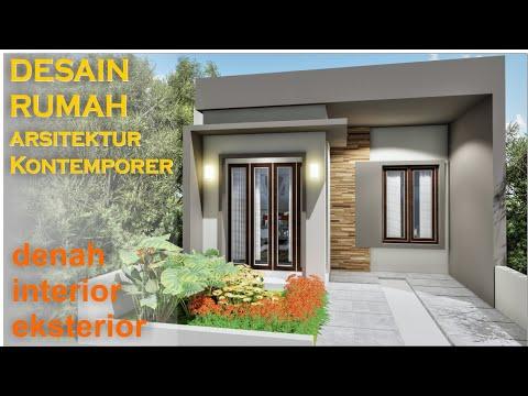 desain rumah minimalis type 45 lahan 6x16 meter dengan 2