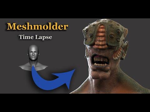 Sculpting Creature Full Process Timelapse -  Similar Zbrush Software