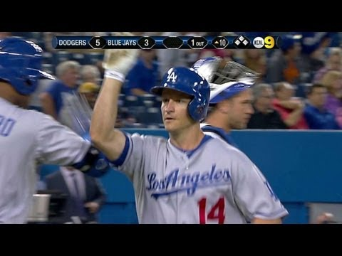 LAD@TOR: M. Ellis' homer hands Dodgers lead in 10th