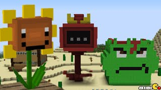 Minecraft & Plants Vs Zombies 2 Mod Mega Fire Peashooter Lost City Guava Lava Air Base Showcase!