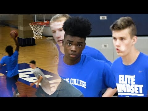 """6'2\"""" PG Jamal Winston Stands Out At Illinois College Prospect Camp"""