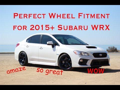 Subaru WRX Perfect Wheel Fitment Guide For 2015 - 2018