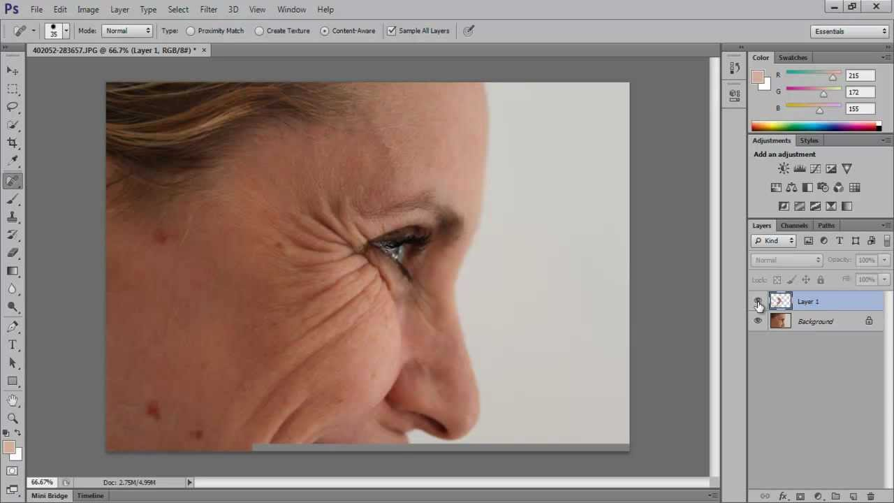 How to get rid of wrinkles in photoshop cs6 youtube how to get rid of wrinkles in photoshop cs6 baditri Images