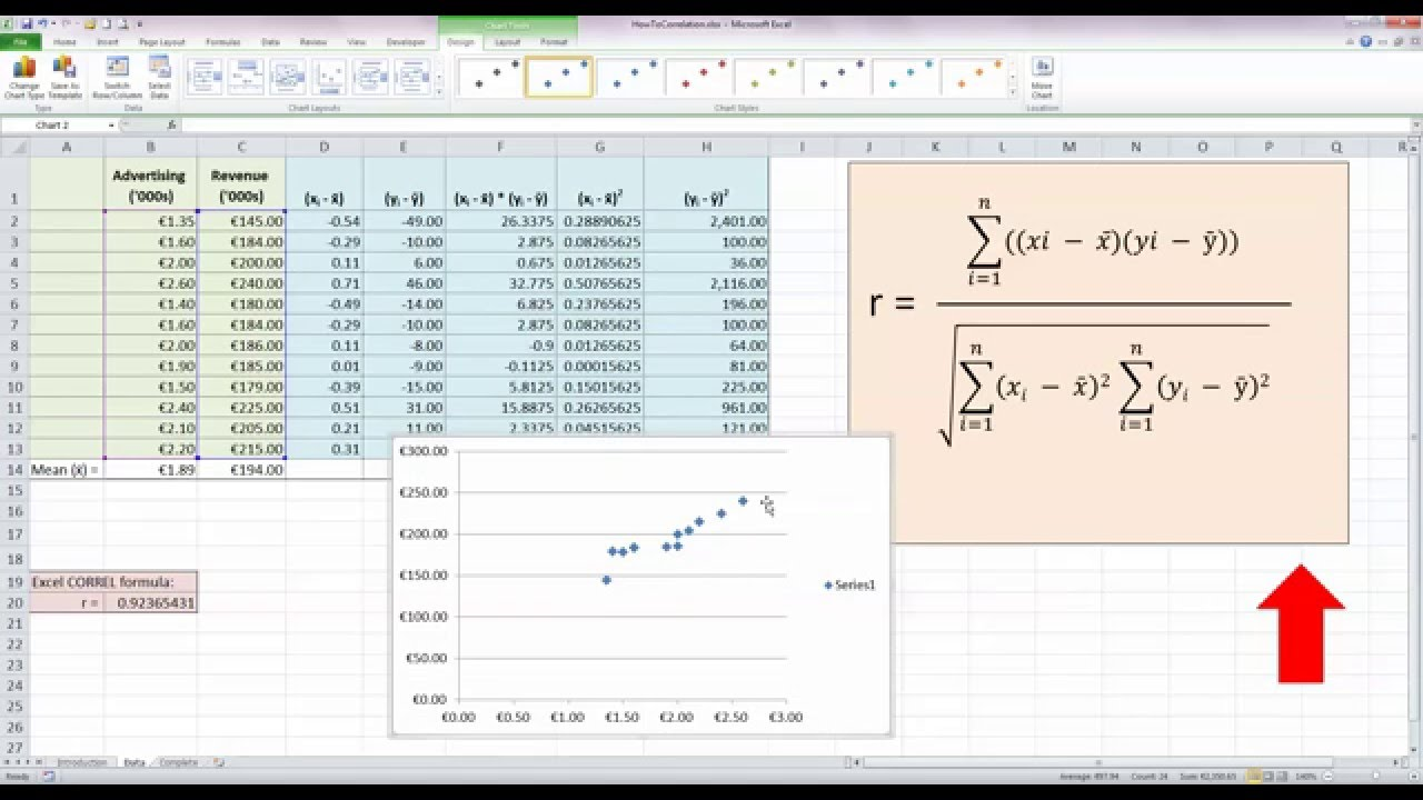 How To... Calculate a Correlation Coefficient (r) in Excel 2010 ...