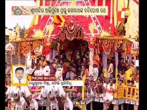 Chariots of Trinity making their way towards Srimandir - Puri Rath Yatra 2017