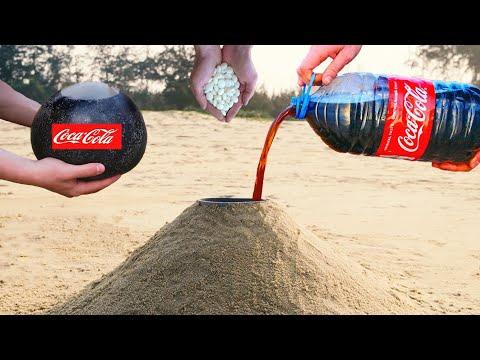 Volcano Eruption! Coca Cola Vs Mentos And Baking Soda In Underground