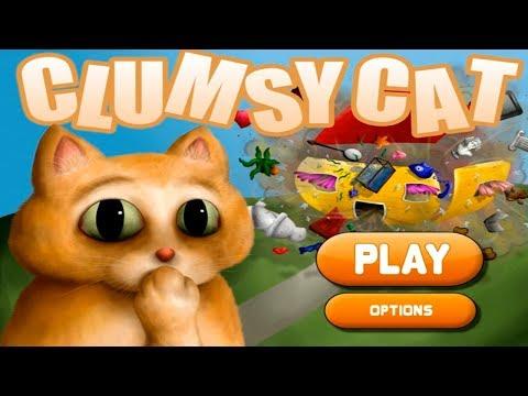 Неуклюжий КОТИК Clumsy Cat Погром в Доме Котик Неряха Детское Видео Игровой Мультик Lets play