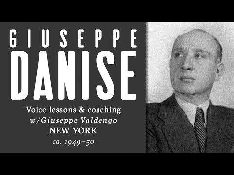 Giuseppe Danise giving voice lessons to Giuseppe Valdengo