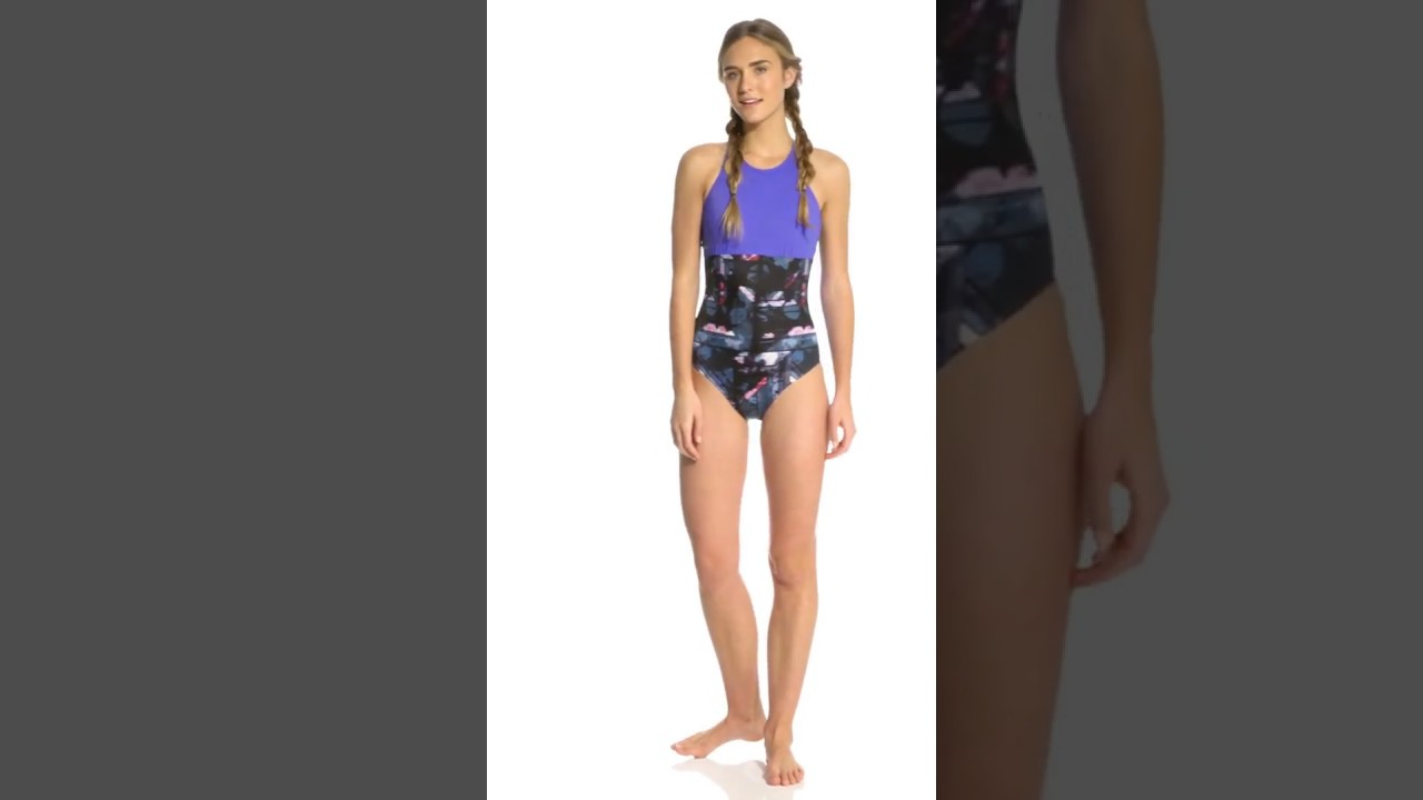 39175020dd061 Roxy Keep It Roxy Fashion One Piece Swimsuit | SwimOutlet.com - YouTube