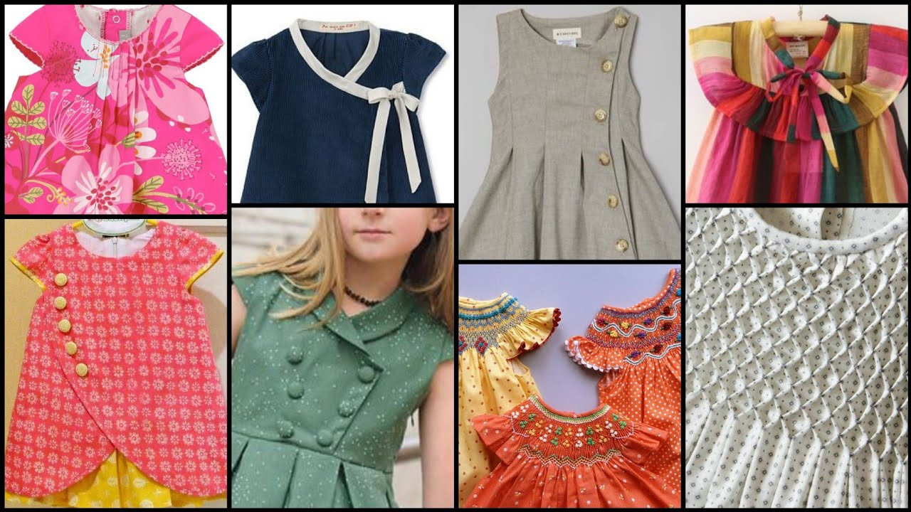 Top class unique 70 Neck designs For Kids frocks,top and dresses