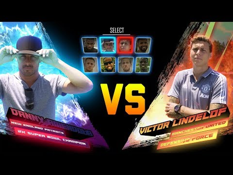 Danny Amendola & Victor Lindelof Compete in American Football & Soccer | NFL vs. Premier League