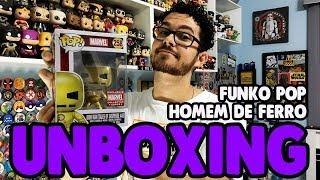 UNBOXING FUNKO POP HOMEM DE FERRO DOURADO COLLECTOR CORPS EXCLUSIVO