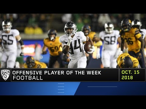 Oregon's CJ Verdell earns Pac-12 Football Offensive Player of the Week honors