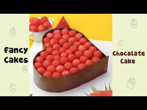 Chocolate Heart Cake Decorating by Watermelon