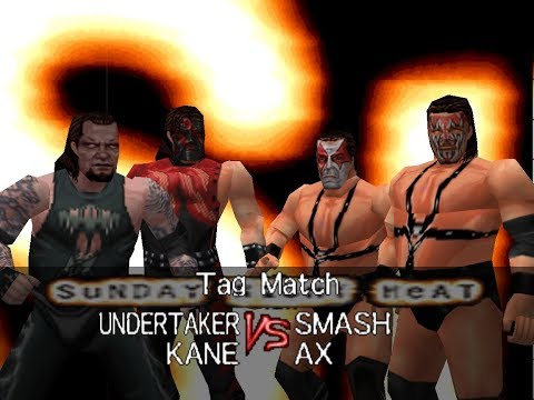 WWF Wrestlemania 2000 Rom Hack Matches - The Brothers of Destruction vs Demolition