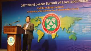 David Kam speaks at FOWPAL's 2017 World Leader Summit 9/21/17