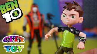Ben 10 y sus Aliens salvan City Toy de los hechizos de Hex