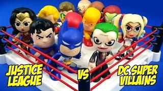 Justice League vs DC Supervillains Toys Shake Rumble Match // RUMBLE LEAGUE by KIDCITY