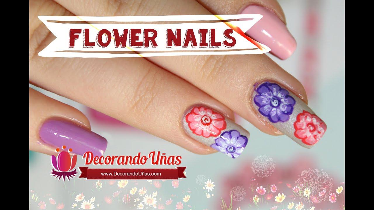 Unas decoradas con flores estilo hindu youtube - Ver unas decoradas ...