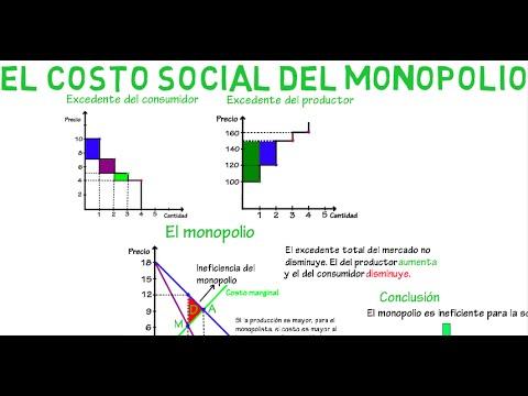 Costo social del monopolio | Cap. 21 - Microeconomía - YouTube