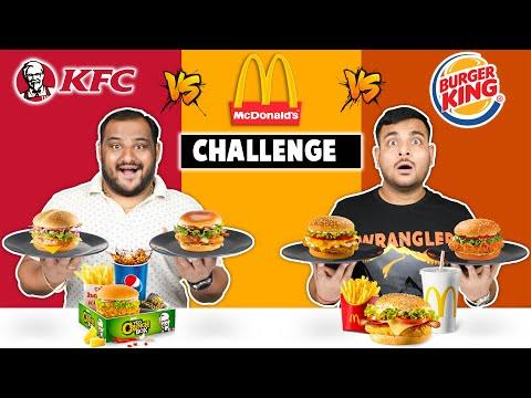 THE ULTIMATE BURGER CHALLENGE   McD Vs KFC Vs Burger King Burger Competition   Viwa Food World