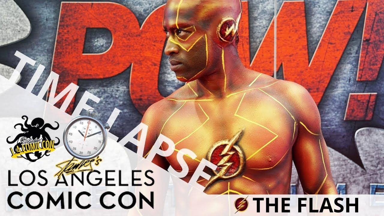 The Flash (Body Paint Time Lapse) | Stan Lee's Los Angeles Comic Con 2017 | EI Makeup School